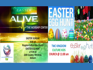 Easter Sunday Service & Egg Hunt @ The Worship Center | Antioch | California | United States
